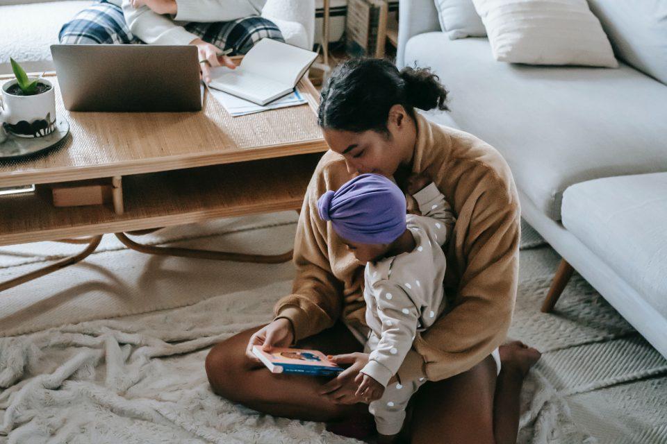 Thuis met de baby