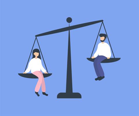 Gelijke verdeling mannen en vrouwen